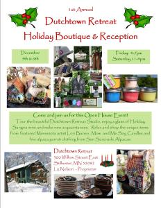 Dutchtown Retreat Holiday Flyer 2014 - 2